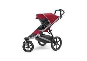 red jogging stroller