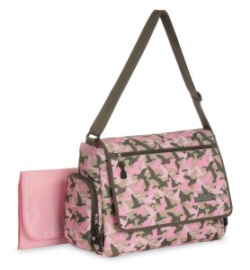pink messenger diaper bag