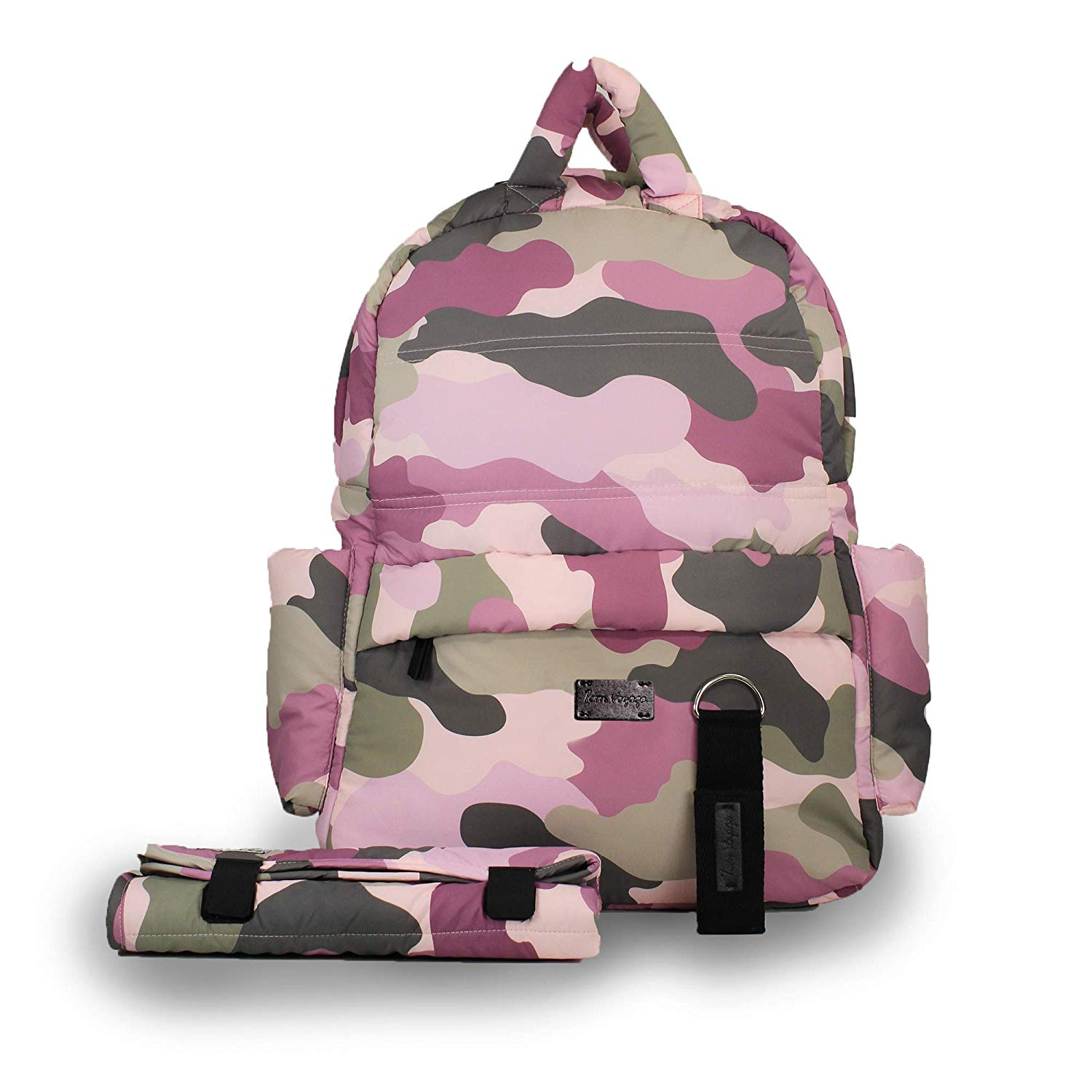 Pink camo diaper bag backpack